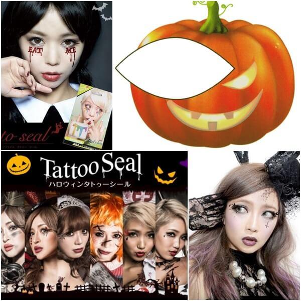 ハロウィンの顔用タトゥーシール
