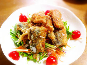 竜田揚げ|秋刀魚とワインのマリアージュ