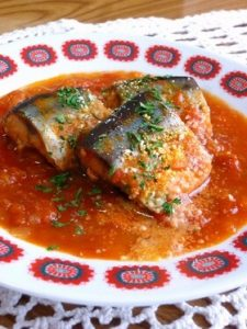 トマト煮|秋刀魚とワインのマリアージュ