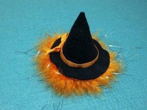 ミニチュア|ハロウィンの魔女帽子の完成形