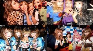 ハロウィンパーティーに仮装をして楽しむ女性達
