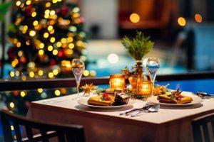 クリスマスのホテルディナー