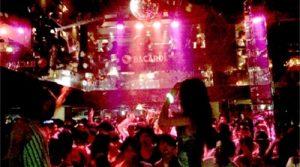 クラブのカウントダウンイベント風景