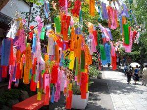 七夕祭りの五色短冊