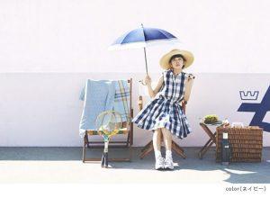 女性用の長傘の日傘