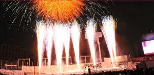 神宮外苑花火大会の打ち上げ花火