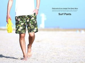 surf pants in the beach