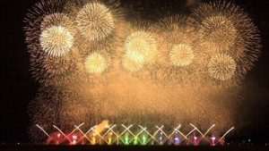 赤川花火大会の景色