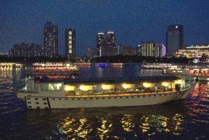 隅田川花火大会の屋形船|あら川丸