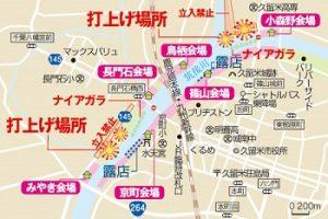 筑後川花火の打ち上げ花火会場