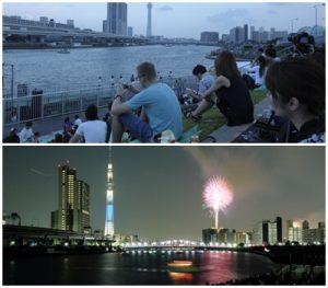 隅田川花火が見えるスポット|汐入公園