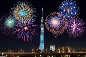 隅田川花火大会とスカイツリー