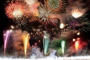 足利花火大会の打ち上げ花火