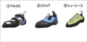 靴のタイプ|ボルダリングシューズ