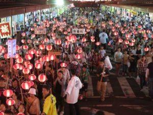 提灯行列|会津まつりのイベント