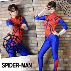 女性用のスパイダーマンの衣装