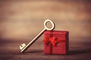 クリスマスプレゼントのキー