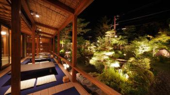 八千代 お庭のライトアップ