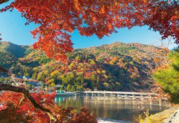 渡月橋と紅葉