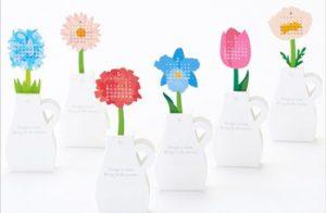 花瓶型の卓上カレンダー
