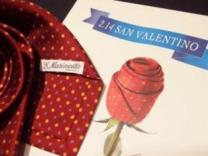 バレンタインにネクタイのプレゼント