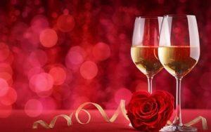 バレンタインにシャンパン
