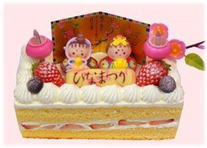 通販のひな祭りのケーキ