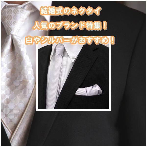 結婚式のネクタイ10選|人気のブランド特集!白やシルバーがおすすめ!