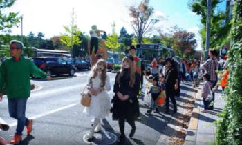 京都北山 仮装パレードの様子