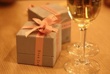 プレゼントにシャンパン