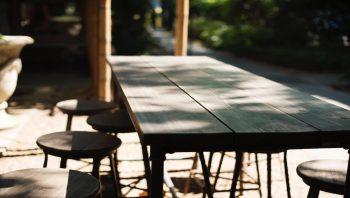テーブルのアップ