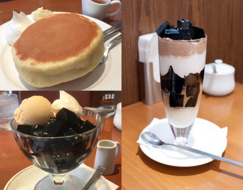 小野珈琲 ホットケーキ コーヒーゼリー コーヒーシンフォニー