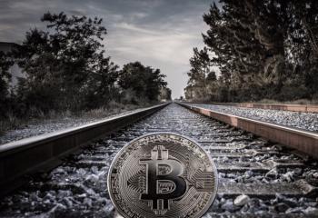 線路にビットコイン