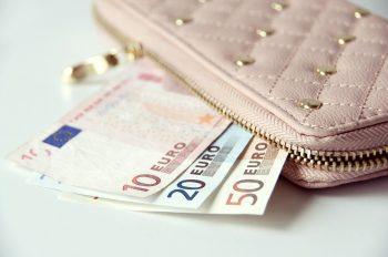 財布から出たユーロ