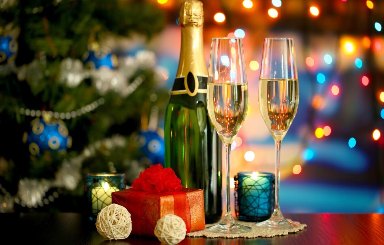 クリスマスにシャンパン