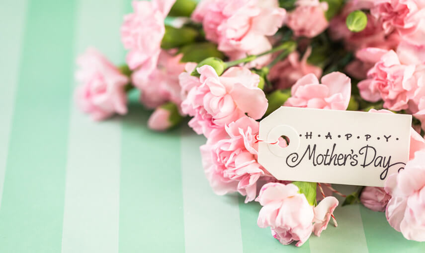 花と母の日のメッセージカード