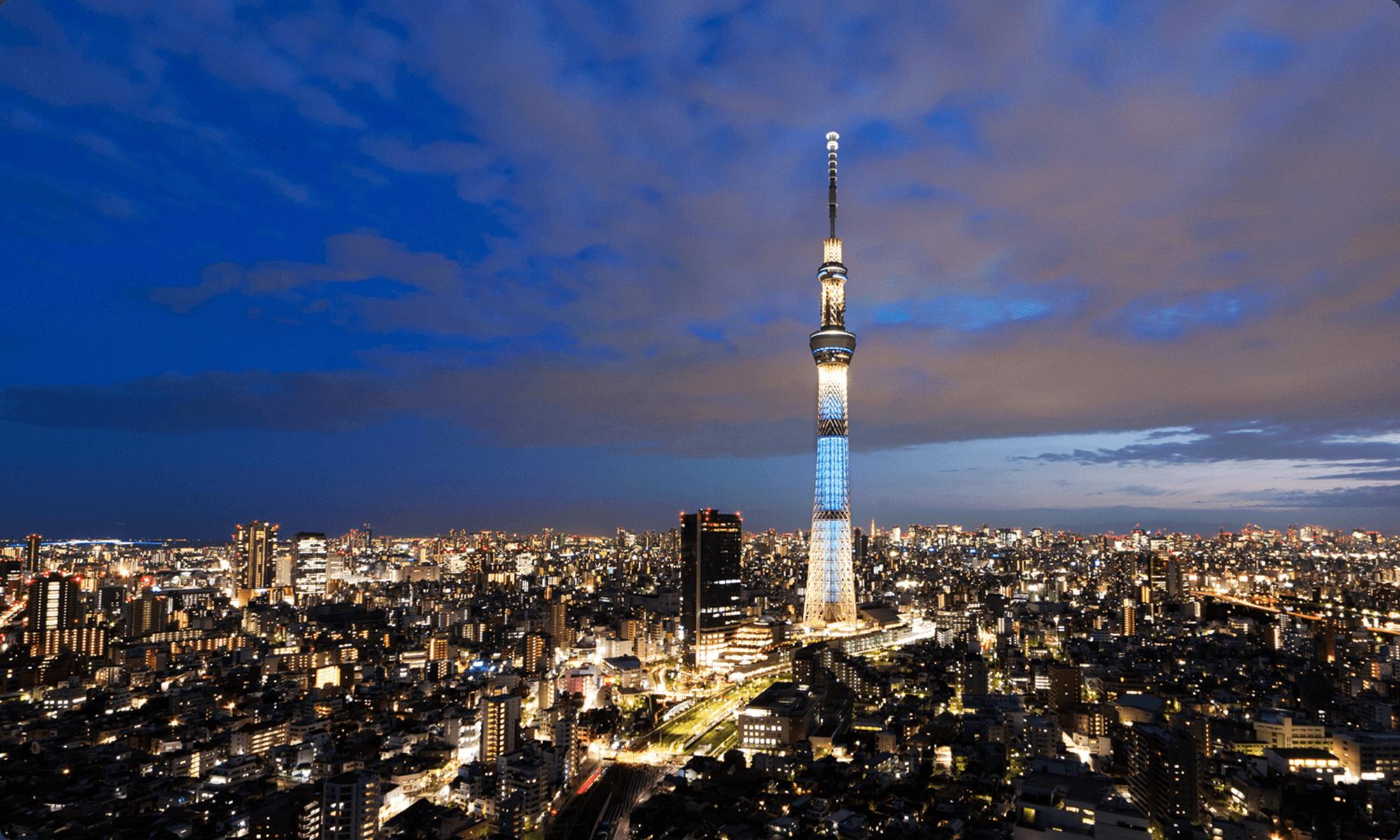 遠くから見た東京スカイツリー